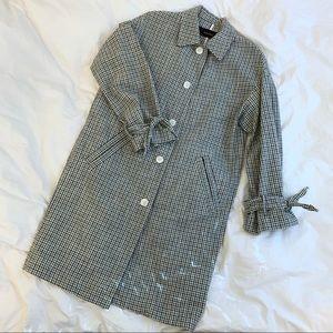 NWOT Zara Checked Coat